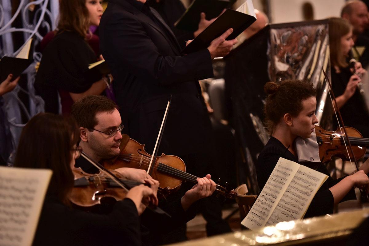 Orchester bei Konzert in MAria Plain von IMP Salzburg